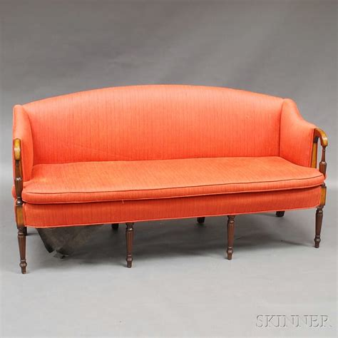 federal style sofa federal style inlaid mahogany upholstered sofa sale