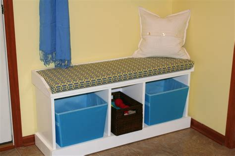 sitting bench with storage storage and organization in your mudroom guest post by