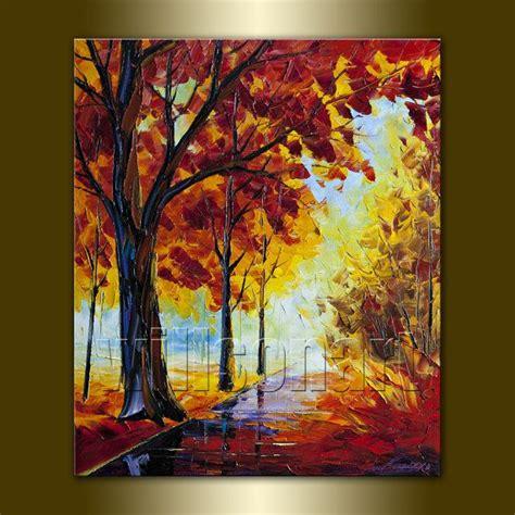 Tableau Peinture Moderne 3340 by Original Seasons Tree Landscape Painting On Canvas