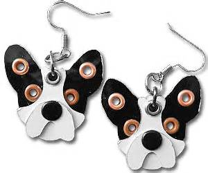 French Bulldog Giveaway - french bulldog earrings buy this bling
