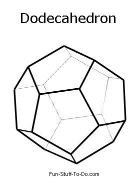 Dodecahedron Template Printable Images - printable shapes