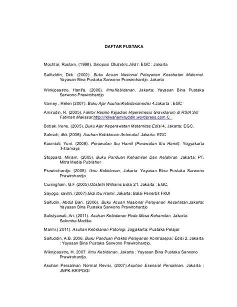 penulisan daftar pustaka edisi daftar pustaka