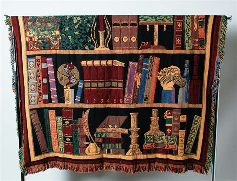 194 loomed tapestry wall hanging or rug lot loomed throw rug wall hanging library design reversible 70 quot x 51 quot ebay