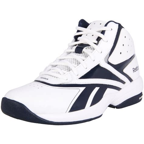 basketball shoes and white reebok mens buckets vi basketball shoe in white for