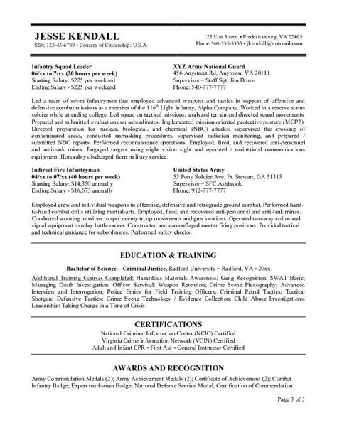 federal job resume template federal government resume exle http www