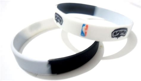 rubber sts san antonio nba san antonio spurs team silicone rubber bracelet sport