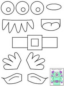 template mosnter printable pieces for puppets make cardboard