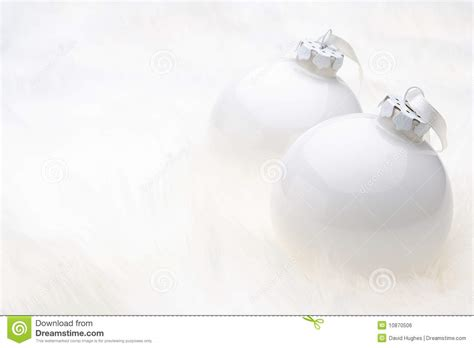 white christmas baubles royalty free stock image image
