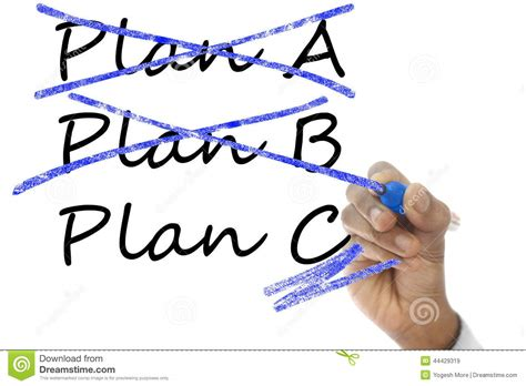 A B   plan a and b crossed plan c take over plan a b stock