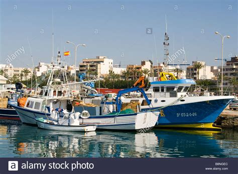 fishing boat in spanish spanish commercial fishing trawlers boats on the quayside