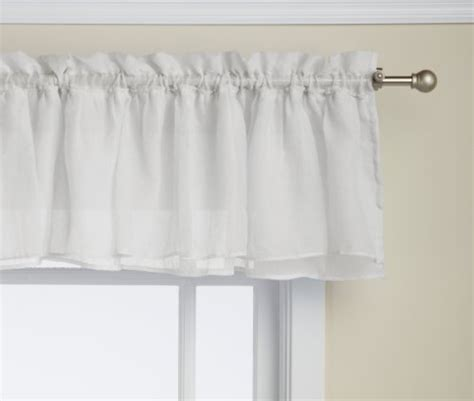 Lorraine Home Fashions Valance lorraine home fashions shabby chic layered ruffle window valance 60 by