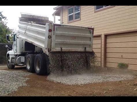 Load Of Driveway Gravel Dump Loader Gravel Test Funnydog Tv