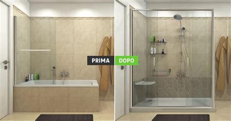 doccia al posto della vasca sostituzione vasca con doccia trasformazione spazio