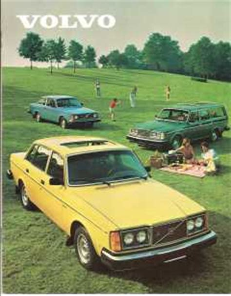 volvo  brochure dl gt gl gle  bertone models william grady