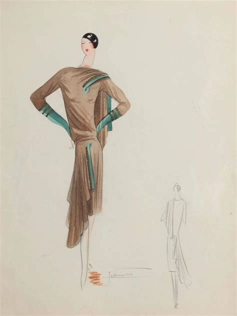 unknown house of premet fashion illustration for sale at