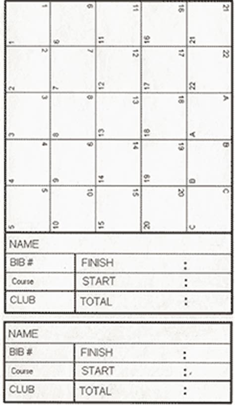 orienteering card template orienteering a run or walk in the countryside explore