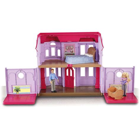 loving family doll houses loving family manor doll house with bed cradle dolls ebay