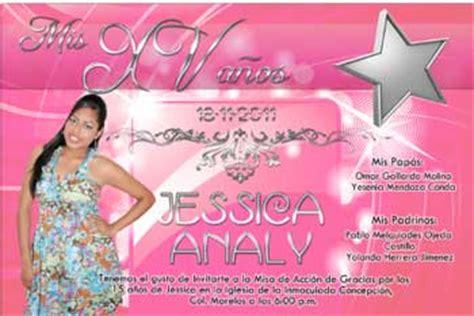 imagenes de invitaciones originales para xv años invitaciones de xv anos 114 invitaciones angy