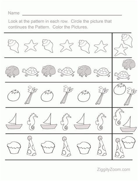 pattern activities for kinder fun pattern sequence pre k worksheet 1 worksheets