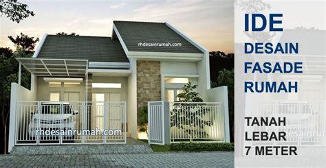 desain tampak depan rumah minimalis lebar  meter