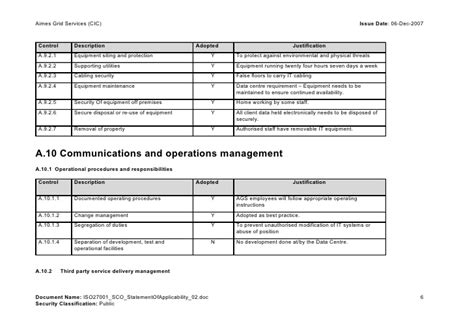 iso 27001 templates statement of applicability doc