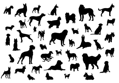 silhouette vector dog silhouettes download free vector art stock graphics