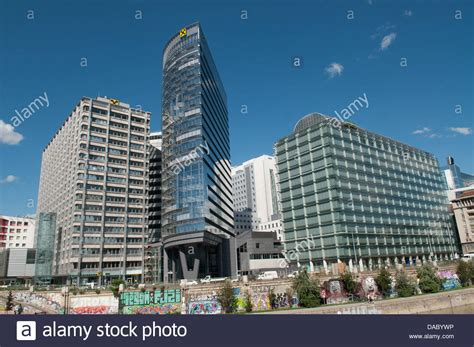 Raiffeisen Bank Headquarters In Vienna On The Bank Of The