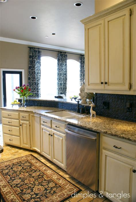 kitchens with backsplash how to cover an kitchen backsplash way back wednesdays dimples and tangles
