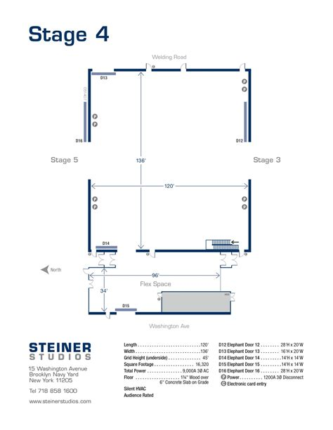 stage floor plan the lot steiner studios