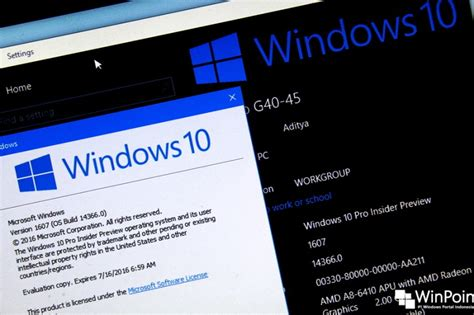 microsoft merilis windows 10 build 14366 pc dan build