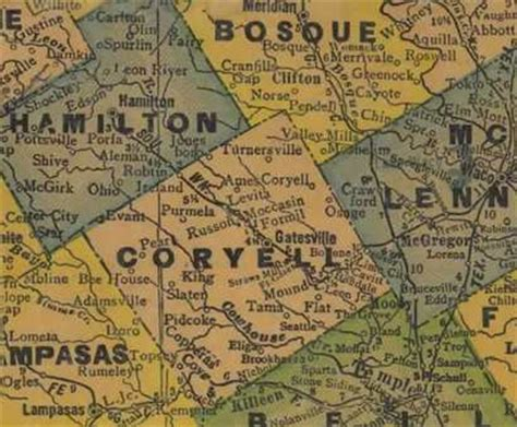 coryell county map pidcoke