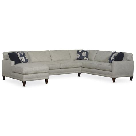 rowe townsend sectional rowe townsend casual sofa sectional group baer s