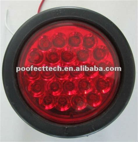 4 inch round led tail lights with 10 30v trailer truck led side marker lights china