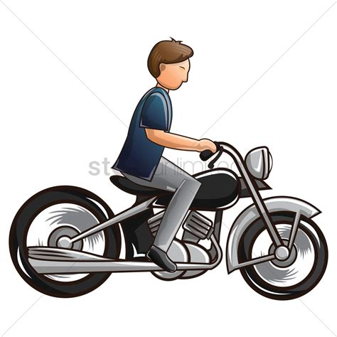 Motorrad Fahren Clipart by Motorcycle Vector Image 1566206 Stockunlimited