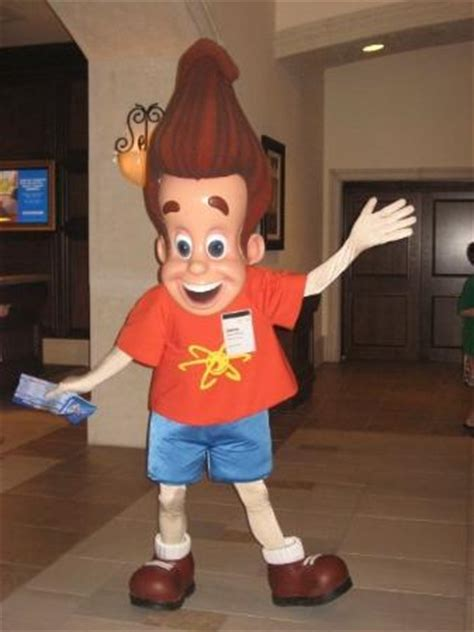 jimmy neutron in the hotel lobby. picture of orlando