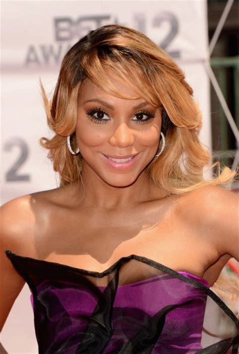 Tamar Braxton Hairstyles by Tamar Braxton Wavy Hairstyle With Bangs For