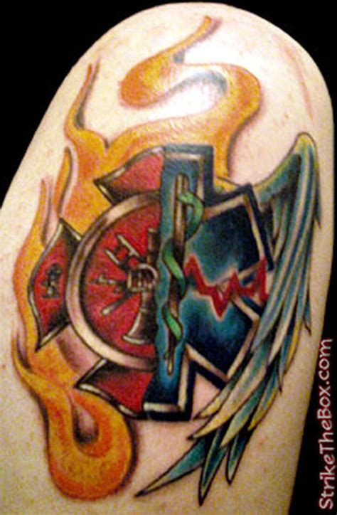 ems tattoo ems firefighter design tattoos book 65 000
