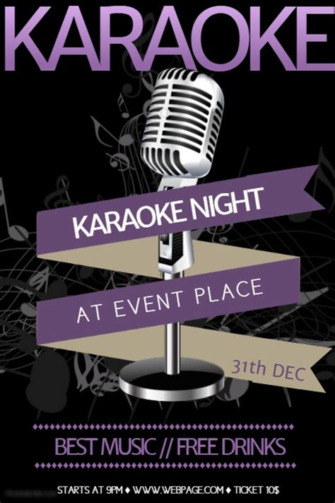 free templates for karaoke flyers free karaoke flyer template postermywall