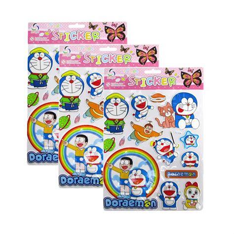 Stiker Doraemon 3 jual meilyngiftshop doraemon stiker emboss 3pcs