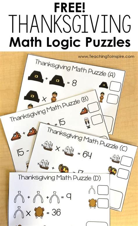 printable thanksgiving logic puzzles free thanksgiving puzzles math logic puzzles teaching