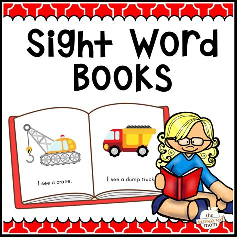 108 Sight Word Books The Measured Mom Printable Kindergarten Books