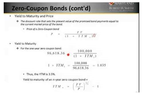yield to call zero coupon bond