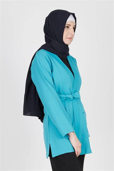 Kaos Lengan Panjang Turquoise sell eduard tosca outer outerwear hijabenka
