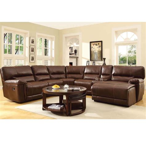 6 pc sectional sofa 6 pc espresso bonded leather sectional sofa with