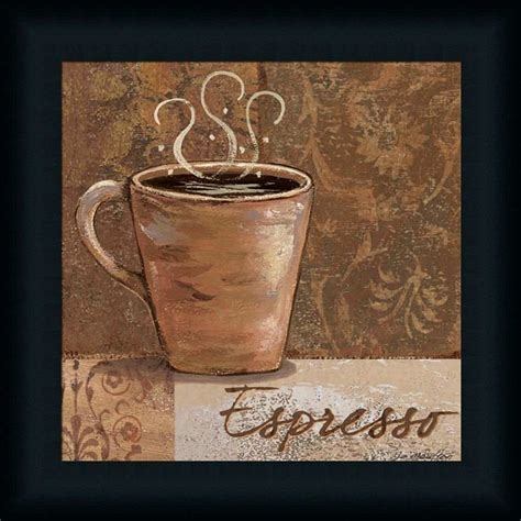 Coffee Print espresso by jo coffee sign kitchen d 233 cor framed print