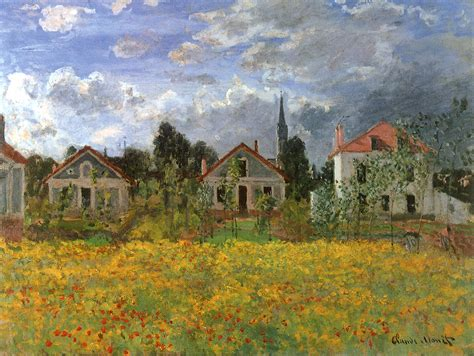 painting of houses art in itself the home of claude monet giverny normandy