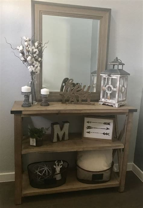 small rustic entryway table best 25 entryway console table ideas on