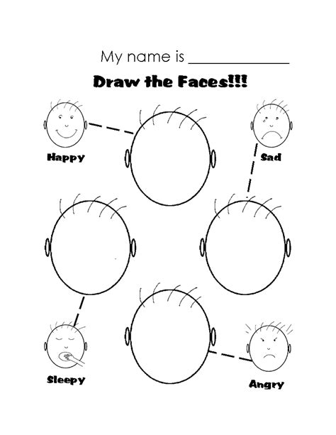 worksheets for preschoolers on emotions printable worksheets on emotions google search draw
