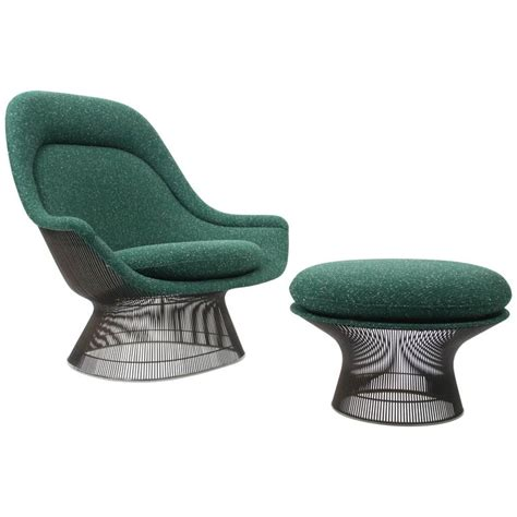 knoll ottoman knoll lounge chair and ottoman by warren platner at 1stdibs