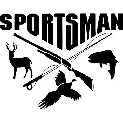 Auto Decals Hunting by 17 8cm 14cm Sportsman Hunting Fishing Deer Fish Gun Car